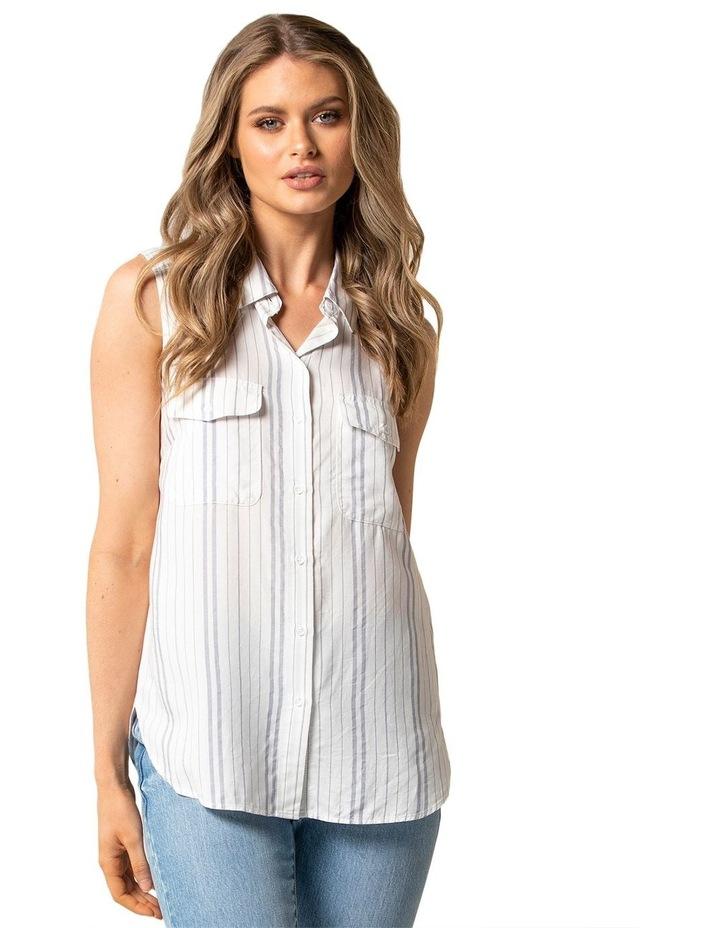 Nina Stripe Sleeveless Shirt image 1