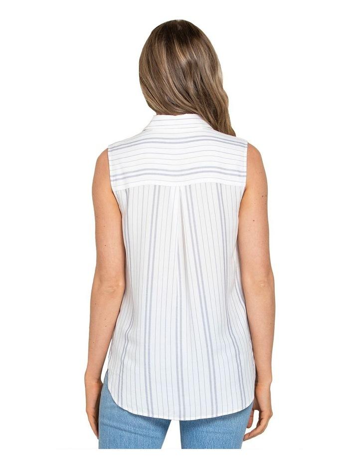 Nina Stripe Sleeveless Shirt image 2