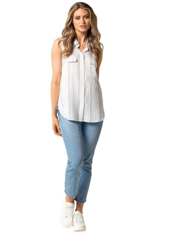 Nina Stripe Sleeveless Shirt image 3