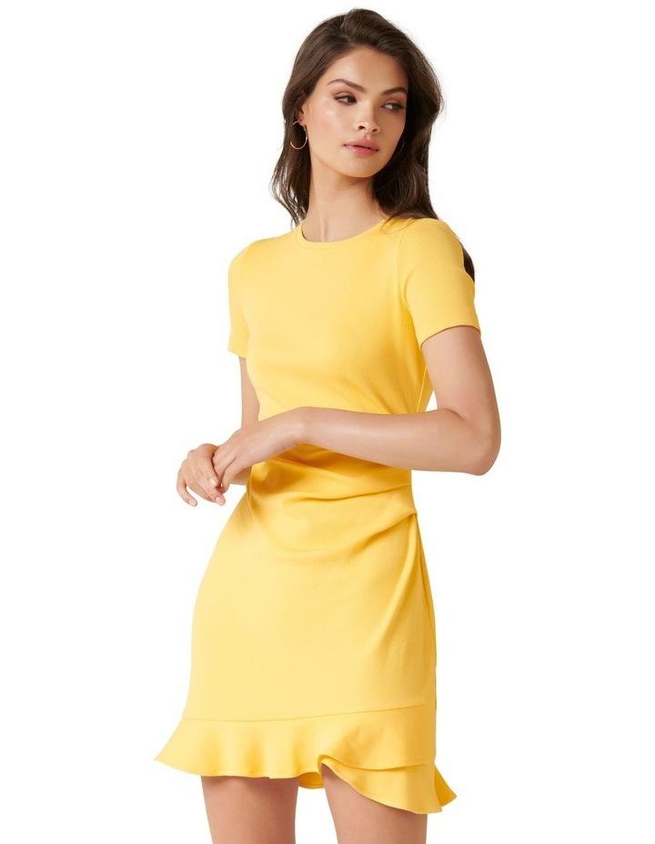 Annie Rib Short Sleeve Frill Dress image 1