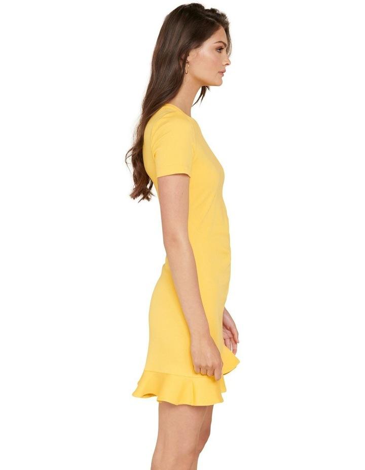 Annie Rib Short Sleeve Frill Dress image 2