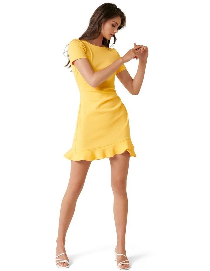 Annie Rib Short Sleeve Frill Dress image 4