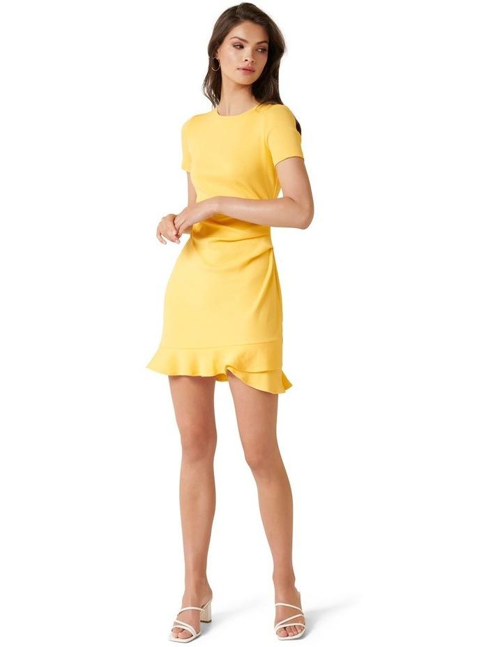 Annie Rib Short Sleeve Frill Dress image 5