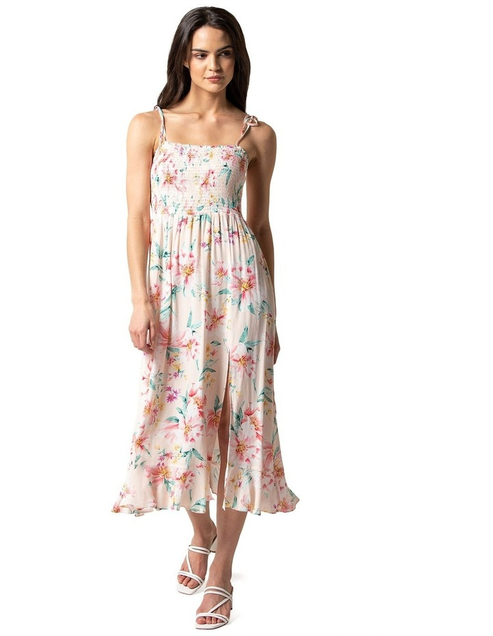 Tracey Shirred Midi Dress image 1