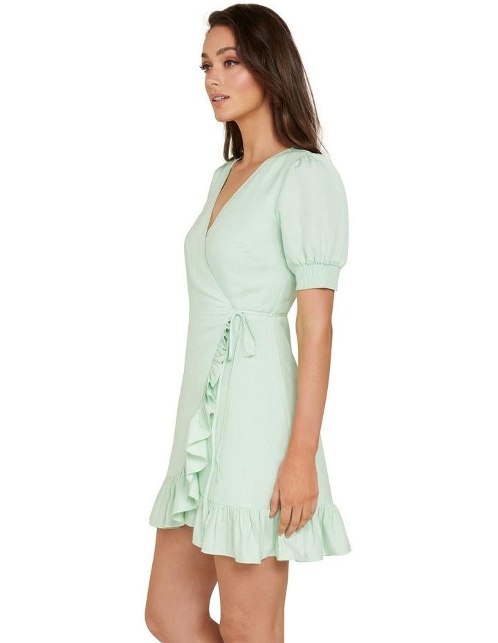 Boston Wrap Linen Mini Dress image 2