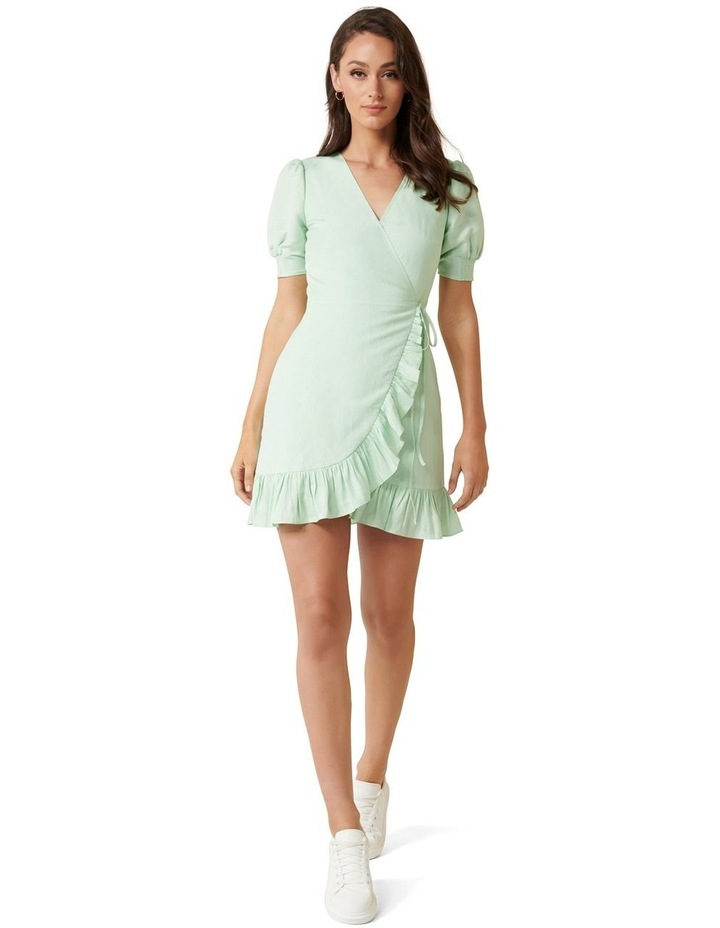 Boston Wrap Linen Mini Dress image 4