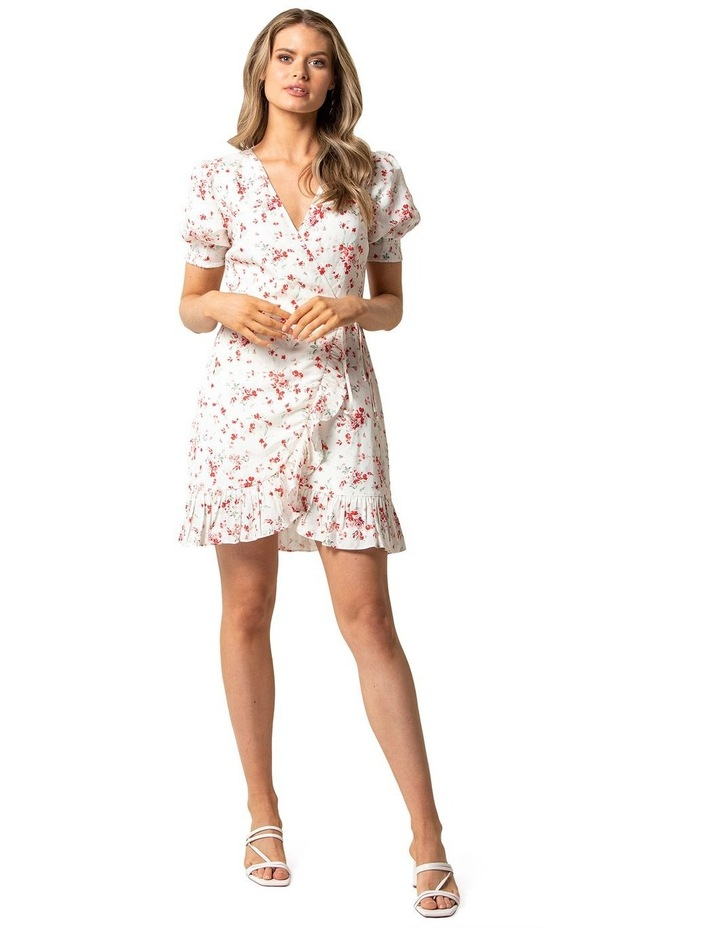 Boston Wrap Linen Mini Dress image 1