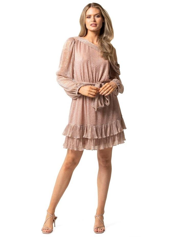 Sarah Plisse Skater Mini Dress image 1