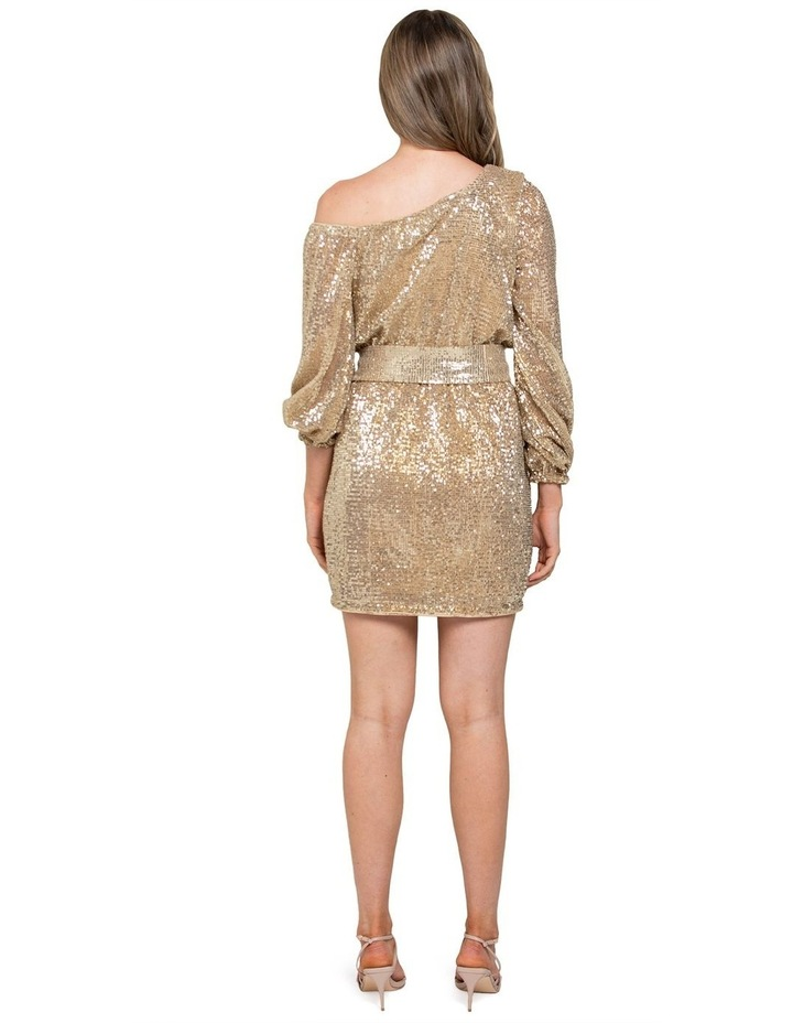 Kaylee One Shoulder Sequin Dress image 3