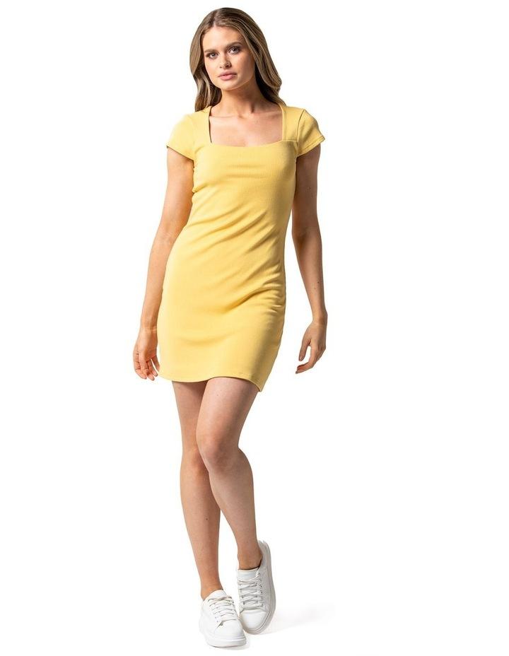 Georgie Square Neck Rib Dress image 1