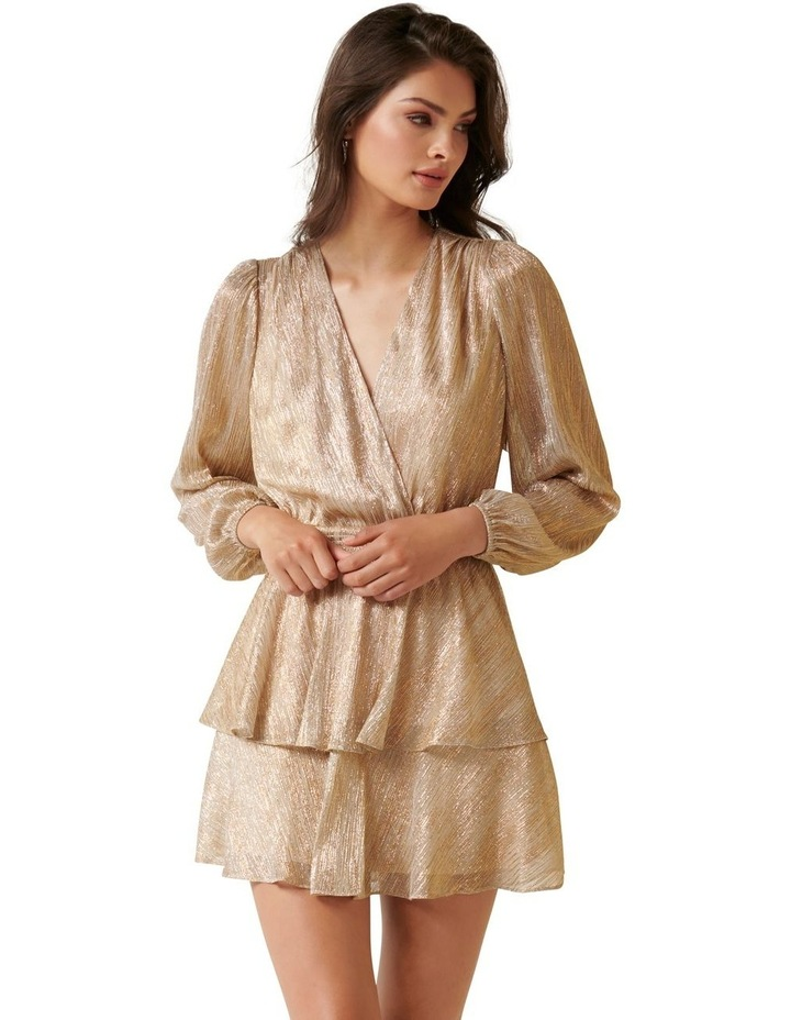 Keira Plisse Tiered Mini Dress image 1