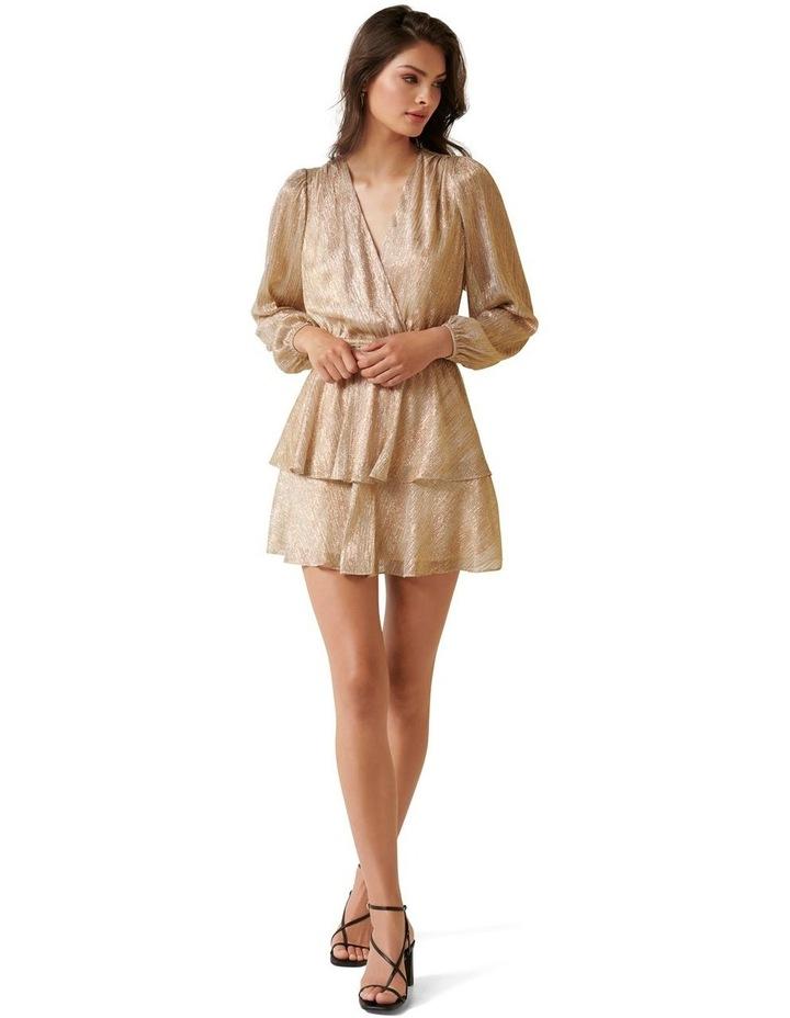 Keira Plisse Tiered Mini Dress image 4