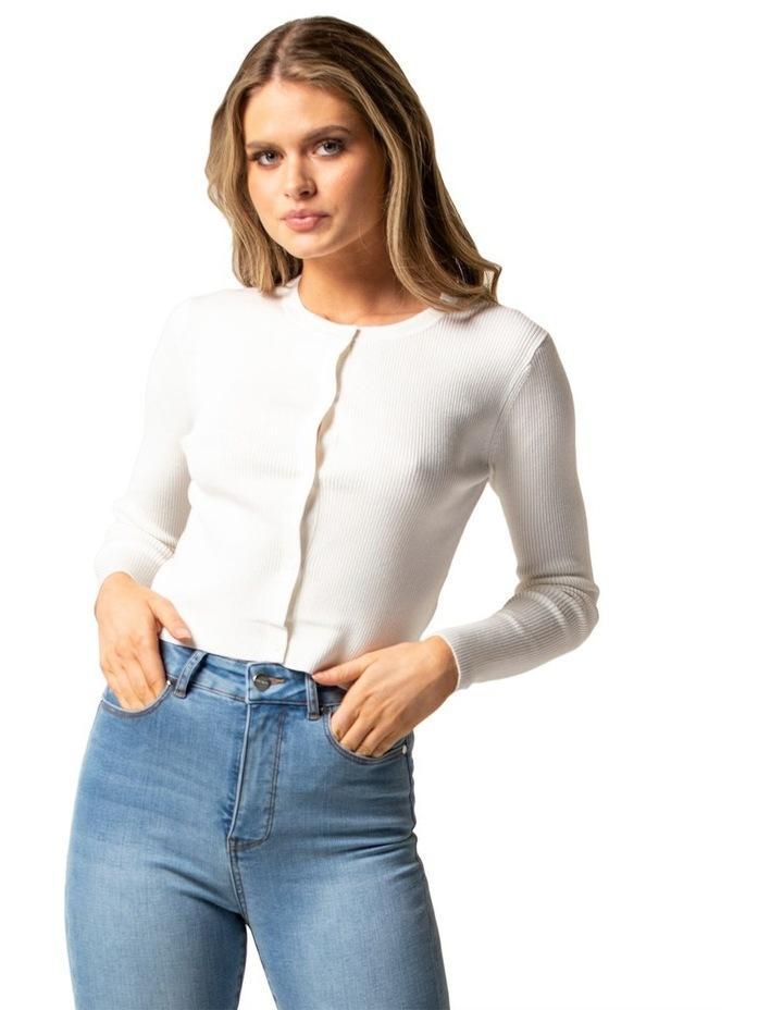 Lana Rib Crop Knit Cardigan image 1