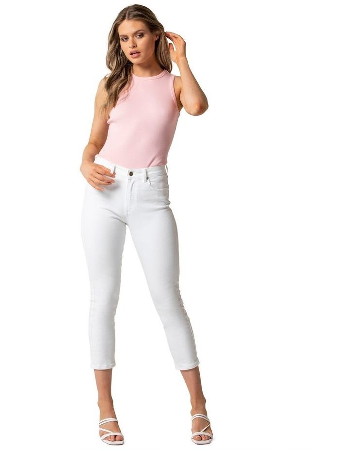 Isabel Petite Mid Rise Straight Crop Jeans image 1