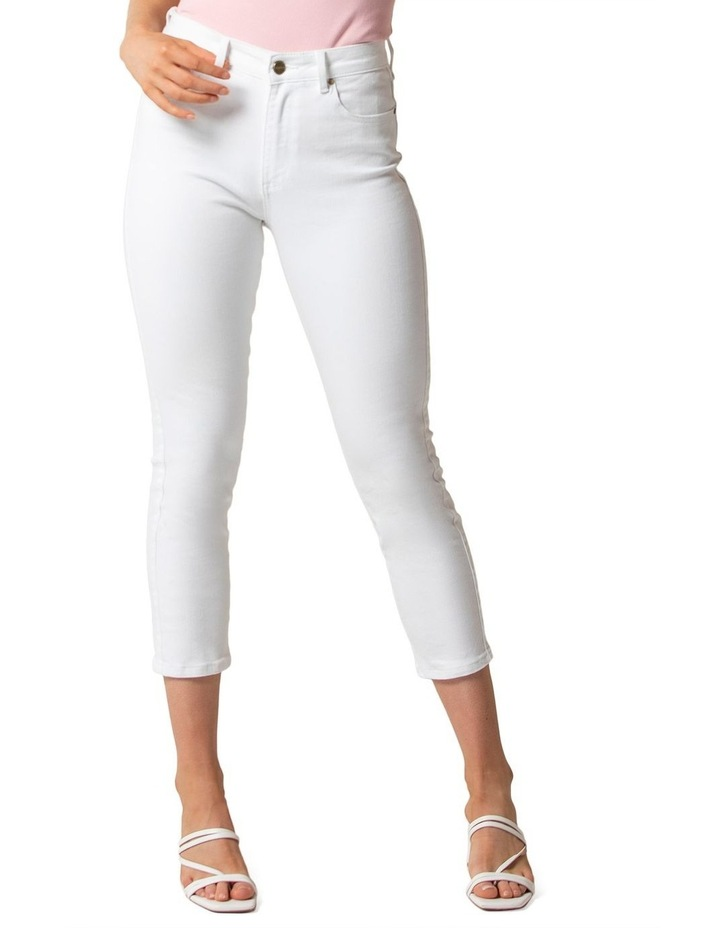 Isabel Petite Mid Rise Straight Crop Jeans image 2