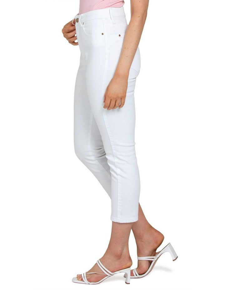 Isabel Petite Mid Rise Straight Crop Jeans image 3