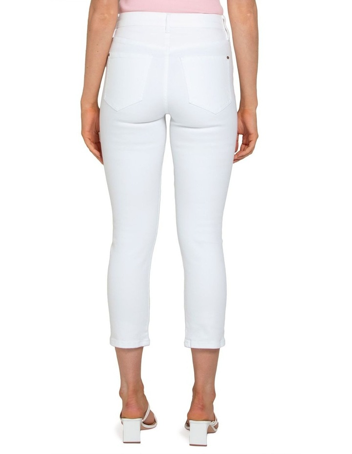 Isabel Petite Mid Rise Straight Crop Jeans image 4