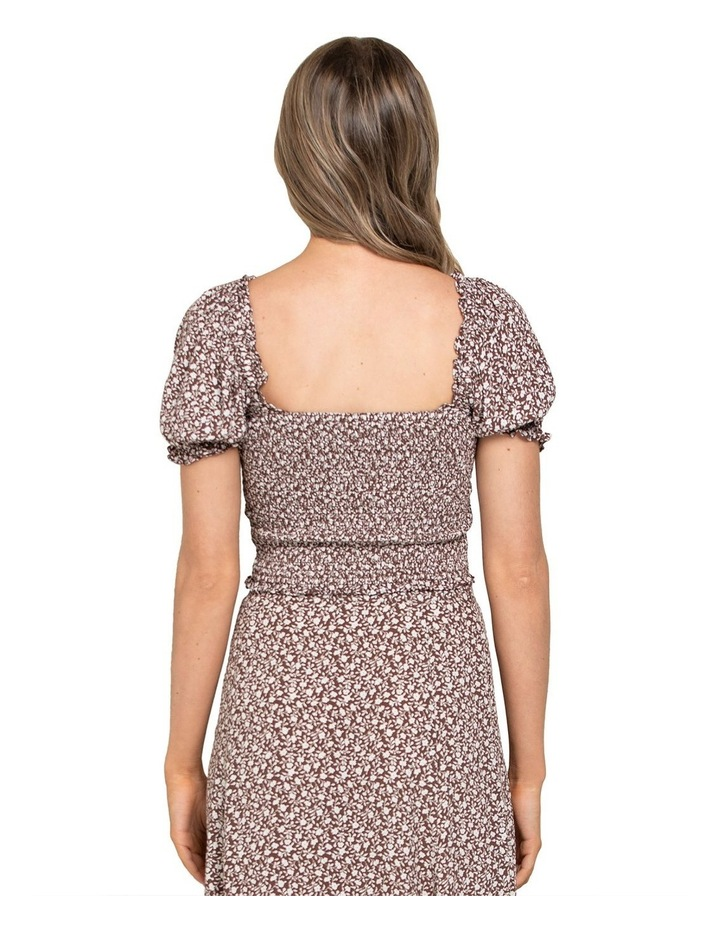 Hayley Petite Puff Shirred Co-ord Top image 3