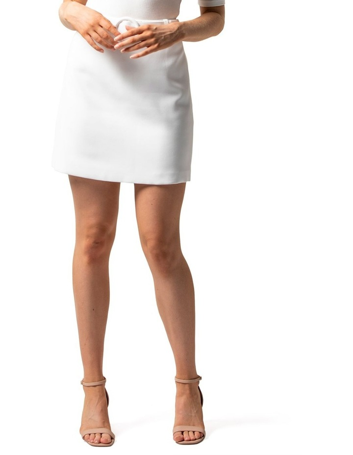 Anabelle Belted Crepe Mini Skirt image 2