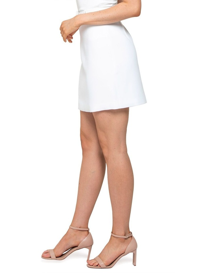 Anabelle Belted Crepe Mini Skirt image 3