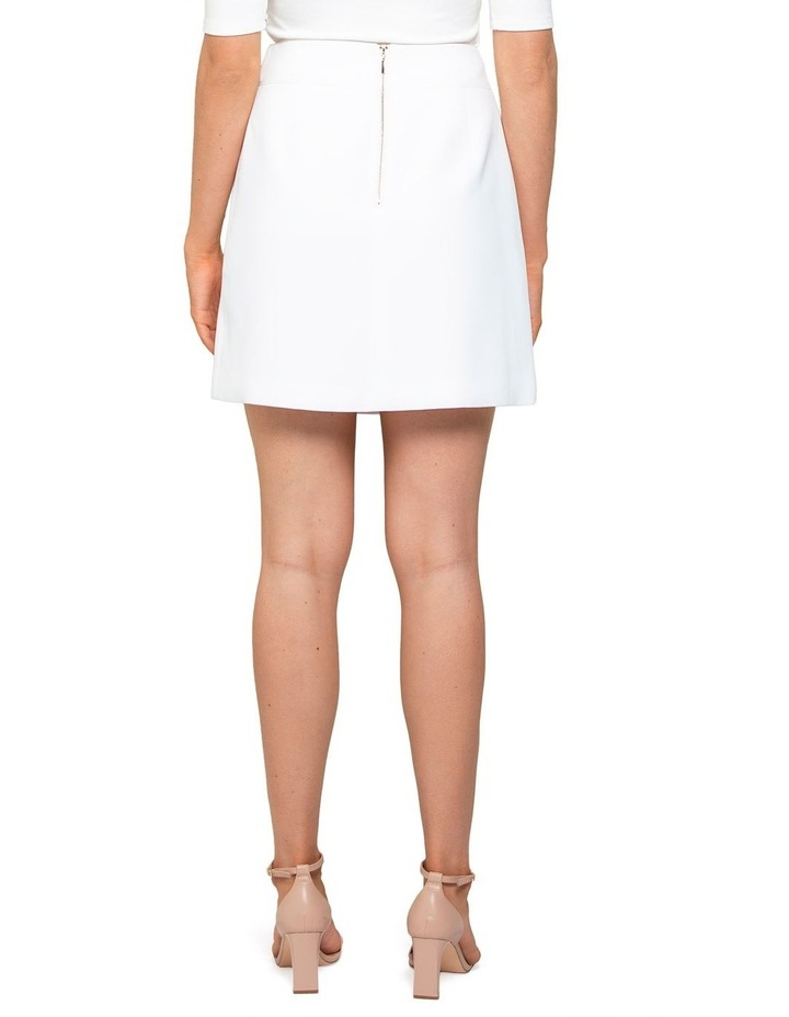Anabelle Belted Crepe Mini Skirt image 4