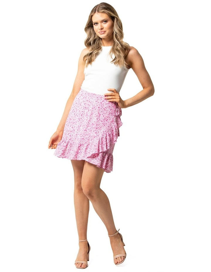 Nala Wrap Linen Mini Skirts image 1