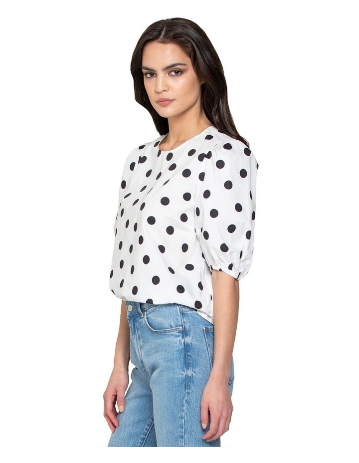 Kelly Cotton Puff Sleeve Blouse image 2