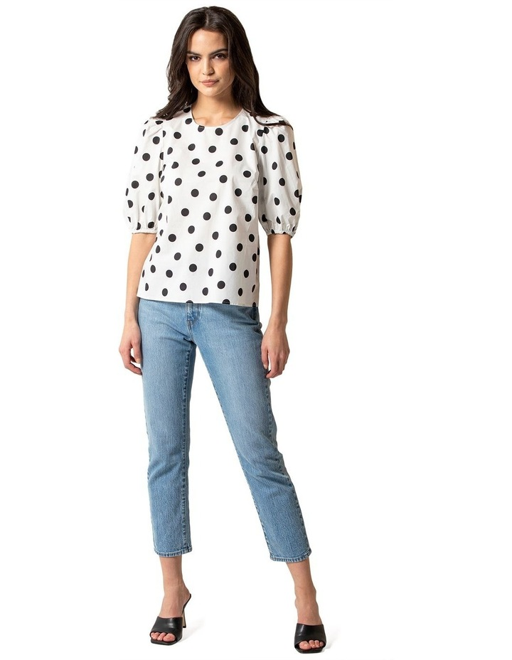 Kelly Cotton Puff Sleeve Blouse image 4