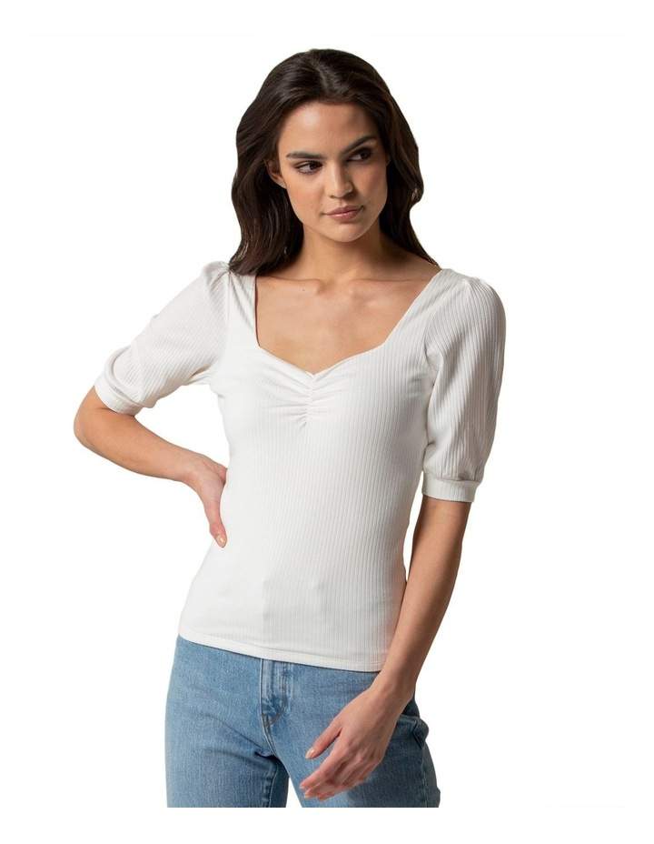 Estella Sweetheart Square Neck Rib Top image 1