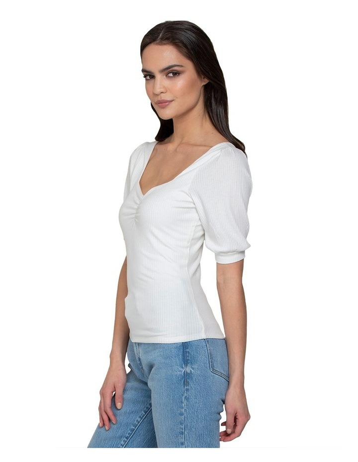 Estella Sweetheart Square Neck Rib Top image 2