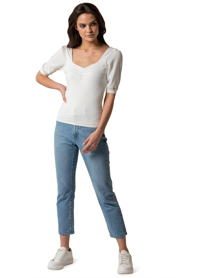 Estella Sweetheart Square Neck Rib Top image 4