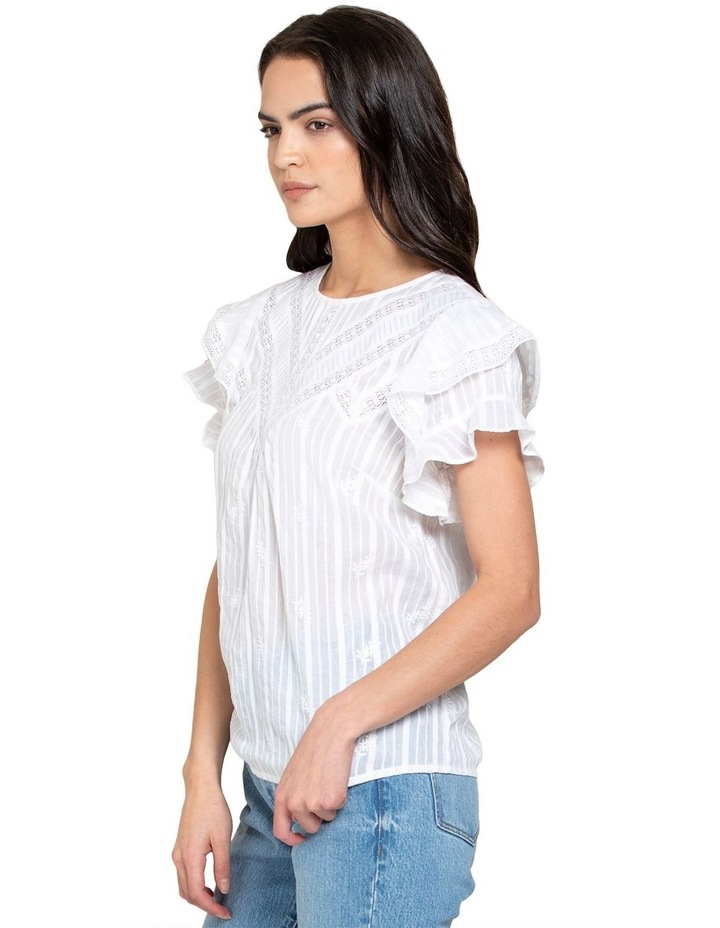 Marley Cotton Embroidered Lace Trim Top image 2