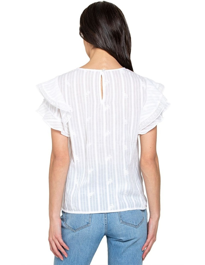 Marley Cotton Embroidered Lace Trim Top image 3