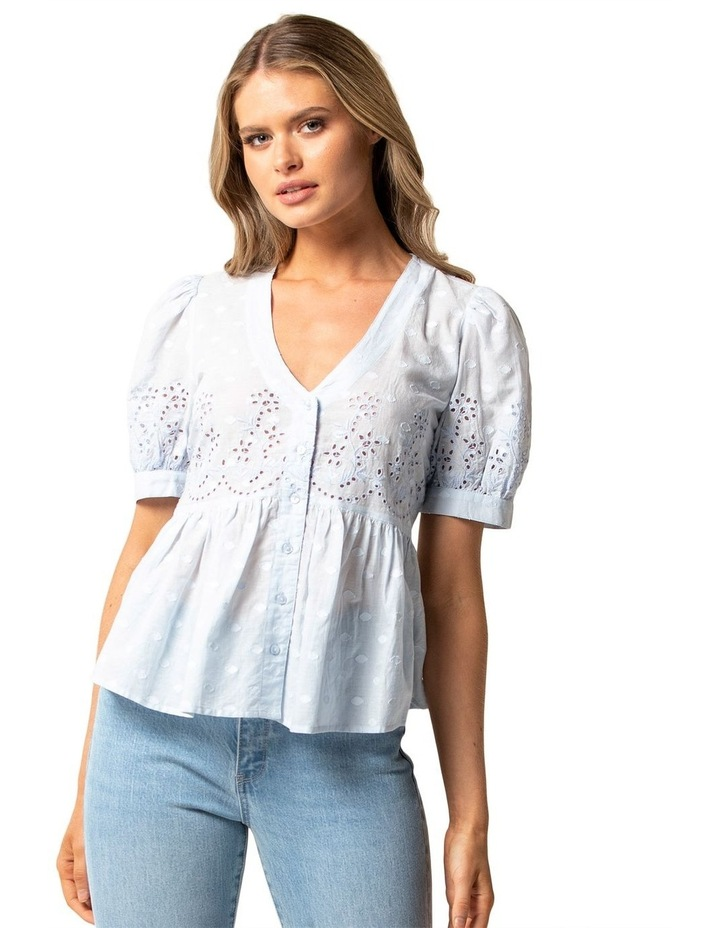 Shirley Broderie Puff Sleeve Blouse image 1