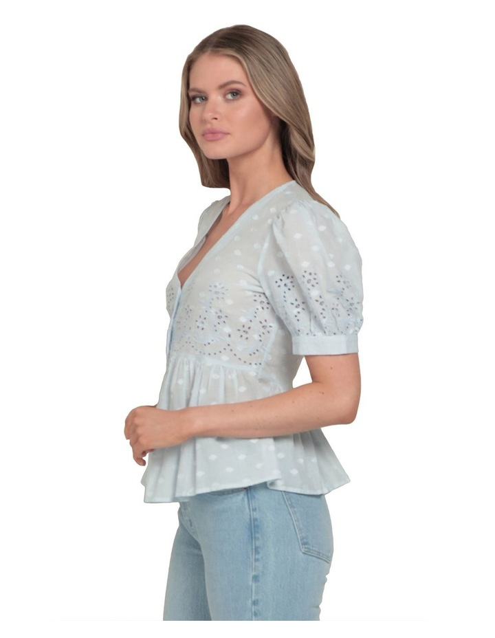 Shirley Broderie Puff Sleeve Blouse image 2