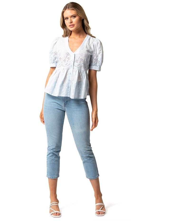 Shirley Broderie Puff Sleeve Blouse image 4