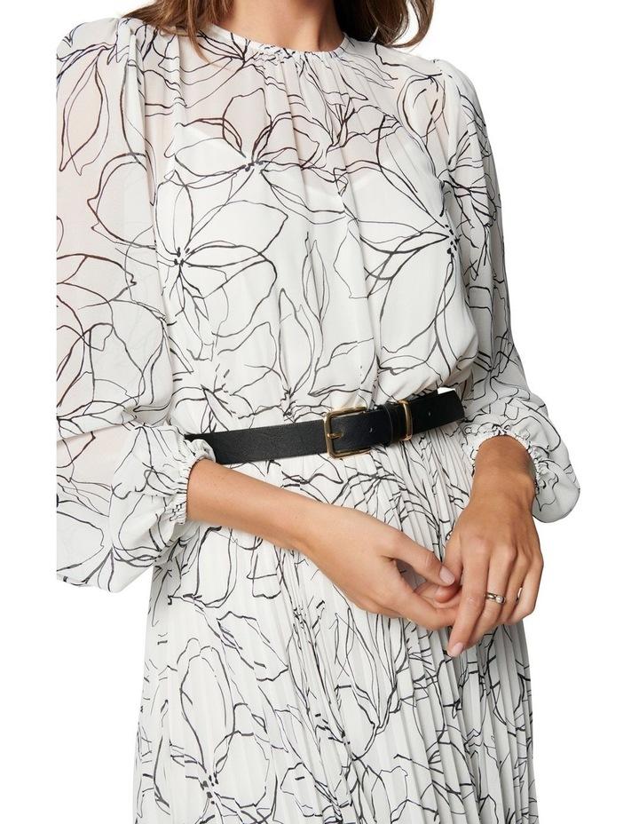 Fiona Pleat Belted Midi Dress image 2