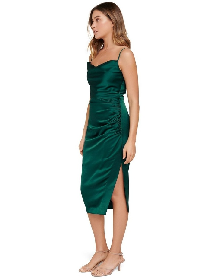 Laura Satin Cowl Ruched Midi Dress image 2