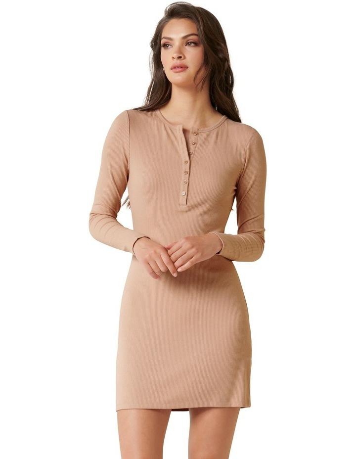 Celeste Rib Button Front Mini Dress image 1