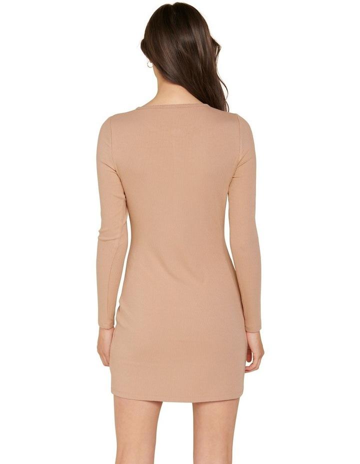 Celeste Rib Button Front Mini Dress image 3