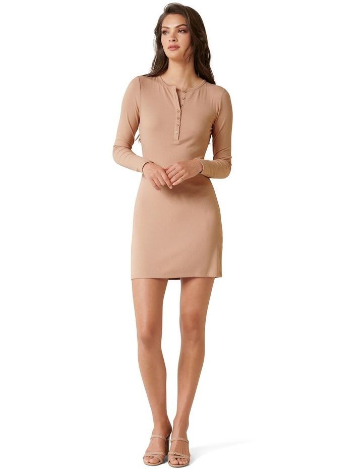 Celeste Rib Button Front Mini Dress image 4
