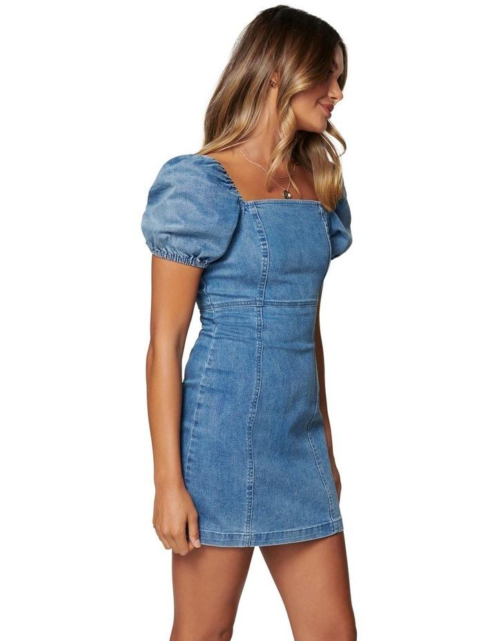 Dina Puff Sleeve Denim Dress image 3