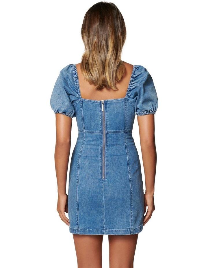 Dina Puff Sleeve Denim Dress image 4