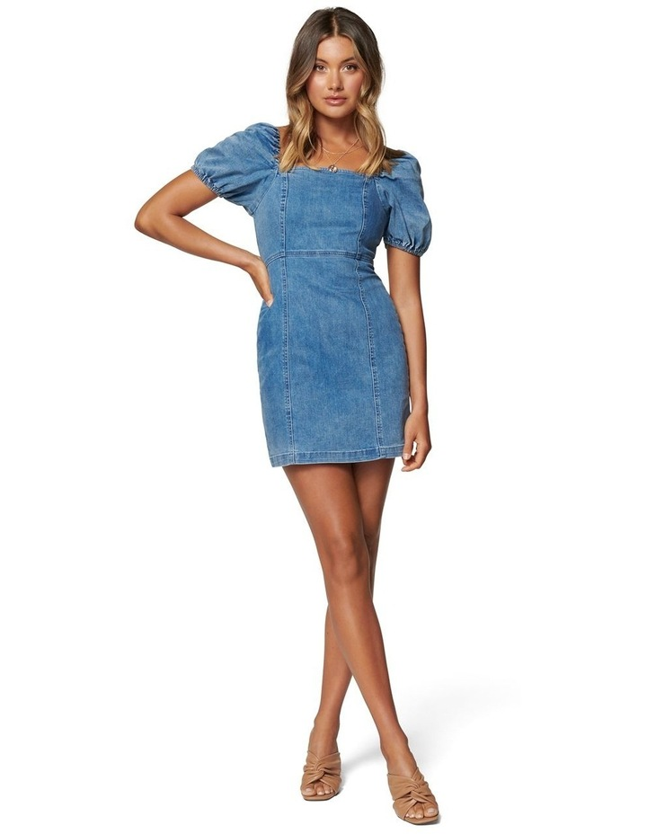 Dina Puff Sleeve Denim Dress image 5