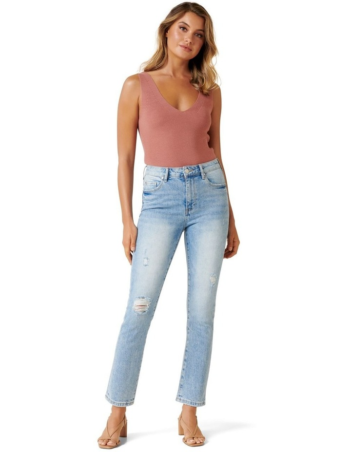 Isabel Mid Rise Straight Crop Jean image 4