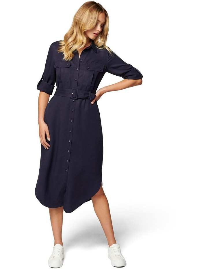 Gina Long Sleeve Belted Shirt Dress image 1