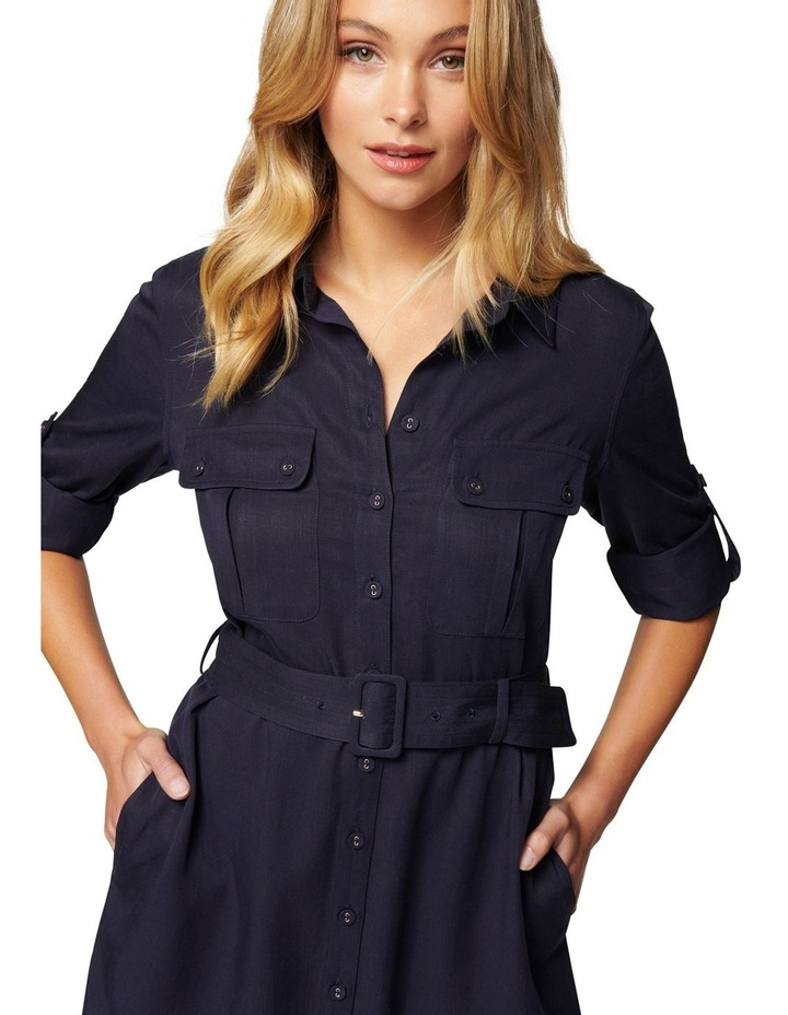 Gina Long Sleeve Belted Shirt Dress image 2