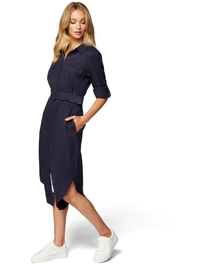 Gina Long Sleeve Belted Shirt Dress image 3