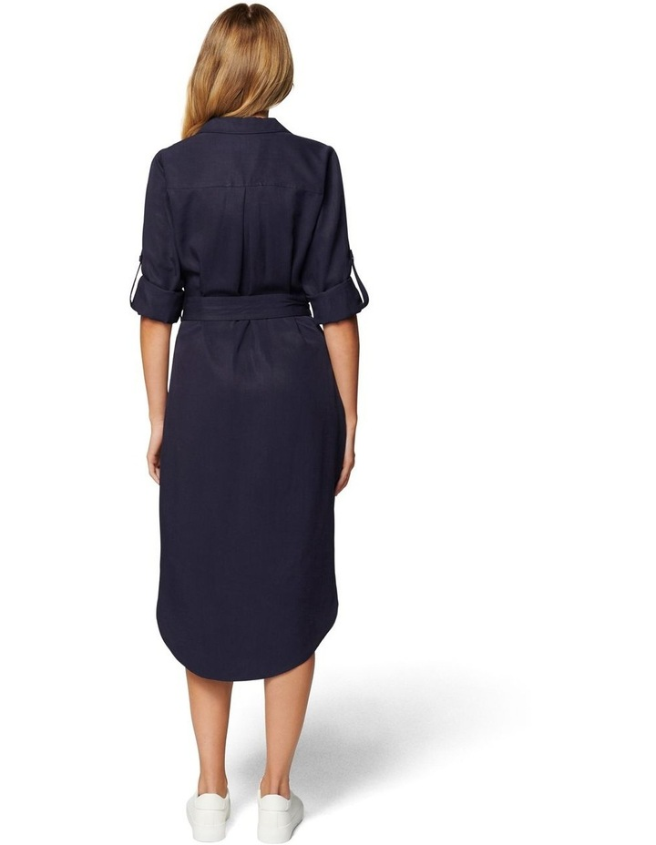 Gina Long Sleeve Belted Shirt Dress image 4