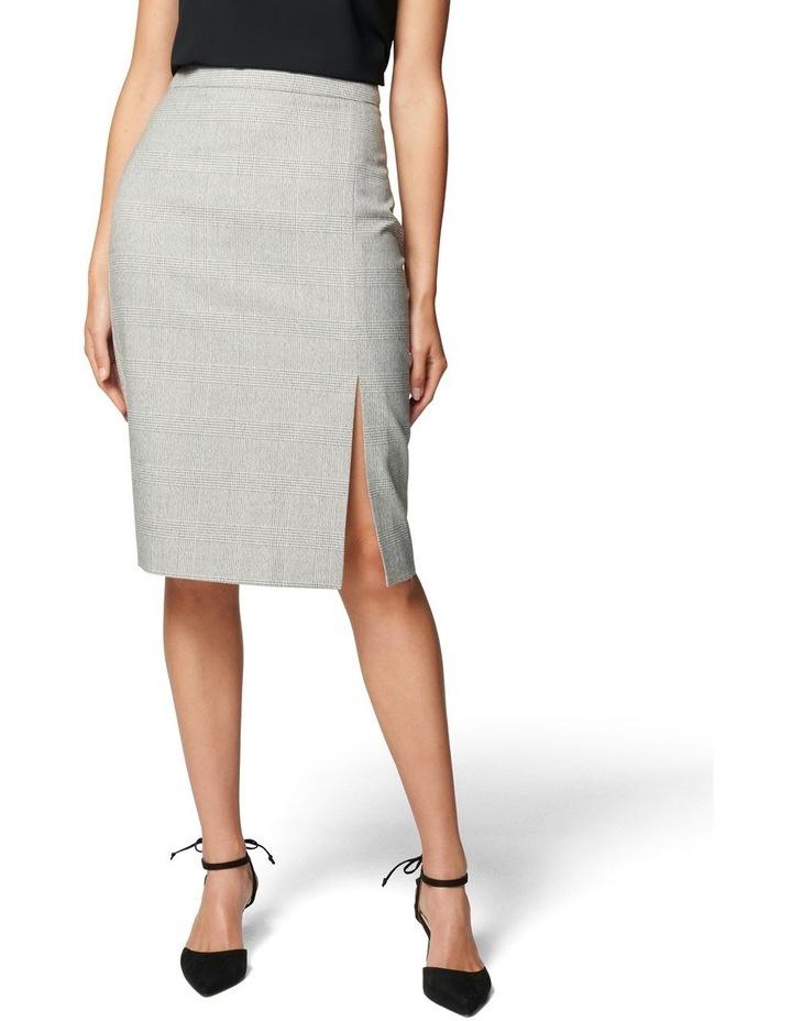Kylie Check Split Midi Skirt image 1